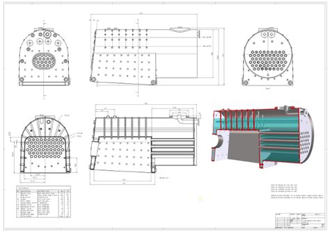 Boiler Autocad Drawing