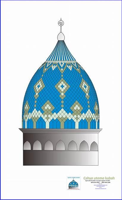 Kubah Masjid Gambar Motif Contoh Utomo Cahyo