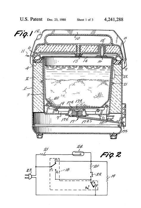 patent us4241288 electric rice cooker with two heaters
