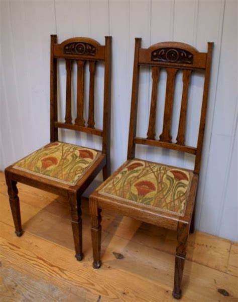 solid oak arts and crafts dining chair 39159