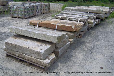 reclaimed granite curb rolling rock building inc