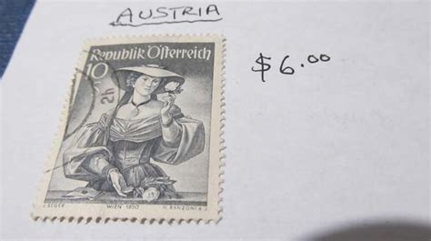 Rare Austria Stamp Outside Alberni Valley, Ukee