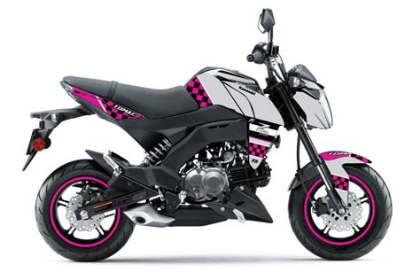 pink checkered z125 pro