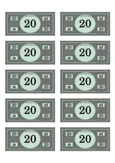 monopoly money  monopoly money play money template