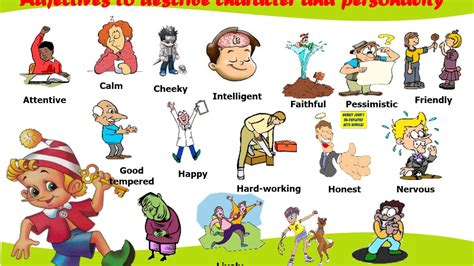 primary kids english  unit  personality adjectives