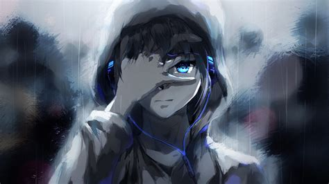 Anime Headphones Wallpaper - anime wallpaper 3000x1687 anime boys artwork