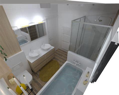 renovation salle de bain dans les tons chaleureux  rennes