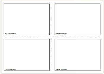 printable flash cards template kids activity