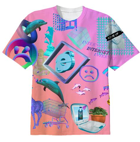 Shop vaporwave t-shirt Cotton T-shirt by KawaiiTrashh | Print All Over Me