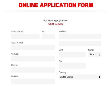Download Krystal Burgers Job Application Form