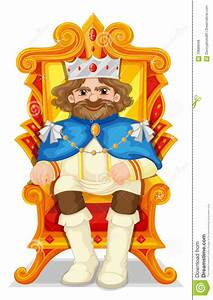 King sitting on the throne stock vector. Illustration of ...