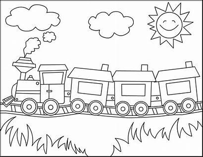 Train Coloring Printable Pages Kindergarten Trains Preschool