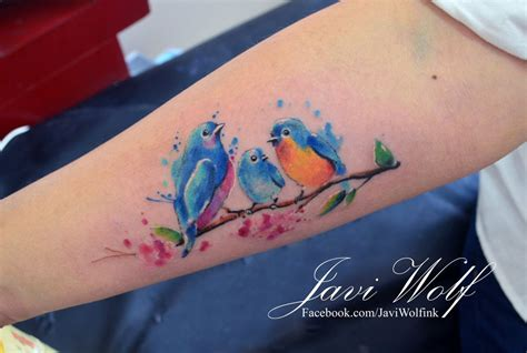 watercolor birds diseno  estilo propiocancun te veo en