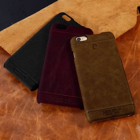 genuine leather cover for iphone 6 cardin genuine leather back cover for