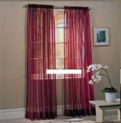 amazon com two sheer voile window panel curtains