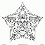 Coloring Geometric Pages Adults Cool Designs Popular sketch template