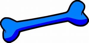 Blue Dog Bone Clip Art at Clker.com - vector clip art ...