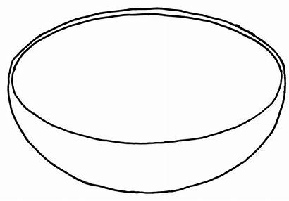 Bowl Template Clip Fruit Coloring Empty Printable