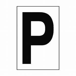 Letter P White Sign