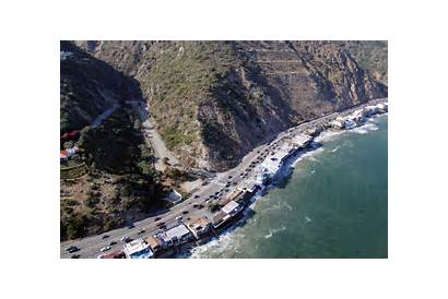 Pacific Highway Coast Rock Angeles Los California