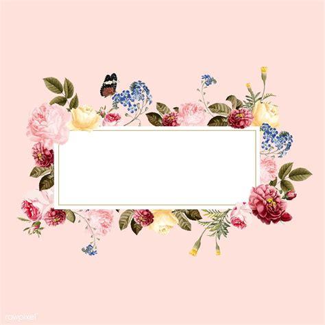 premium vector  blank floral frame card