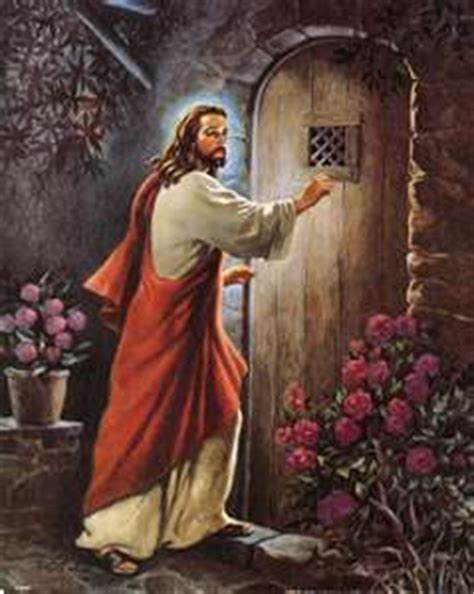 jesus knocking at the door painting words to live by april 2012