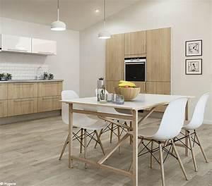 Davausnet cuisine gris et bois clair avec des idees for Idee deco cuisine avec site meuble scandinave