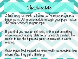 Anecdotes Examples For Essays Education On Essay