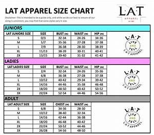 Size Chart Lat  Code Five