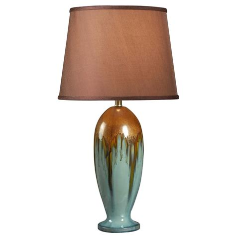 kenroy home lighting tucson teal ceramic table l with