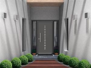portes d39entree monobloc aluminium menuiserie bouvet With porte d entrée bouvet