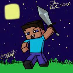 Minecraft Steve Drawing