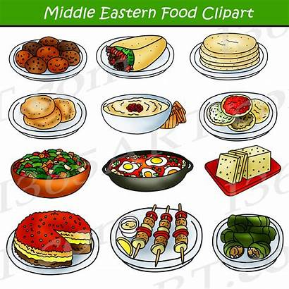 Clipart Middle Eastern Arabic Foods Clip Graphics
