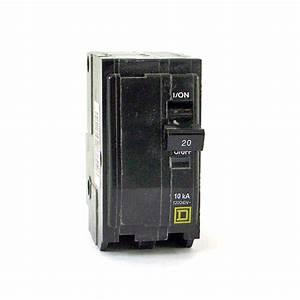 Square D 2 Pole 20 Amp Circuit Breaker 10ka 120  240 Volt