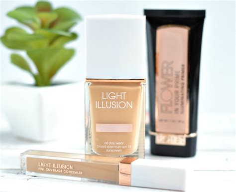 best drugstore light coverage foundation flower beauty light illusion foundation and full coverage