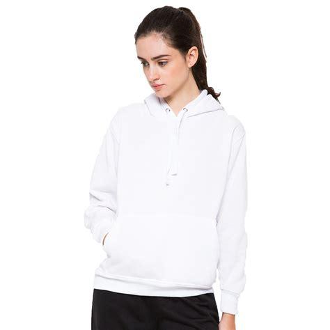 hoodieku hoodie jumper basic putih unisex shopee
