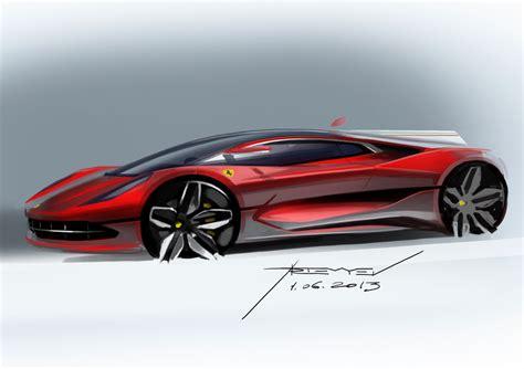 ferrari concept design sketch  vadim artemiev car body design