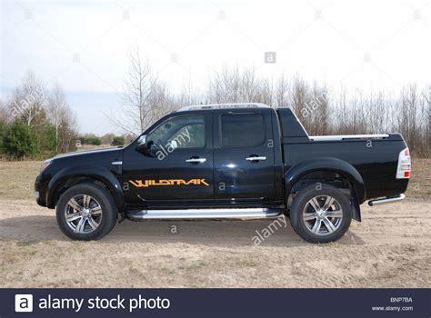 ford ranger 3 0 tdci wildtrak 4x4 my 2010 black metallic stock photo royalty free