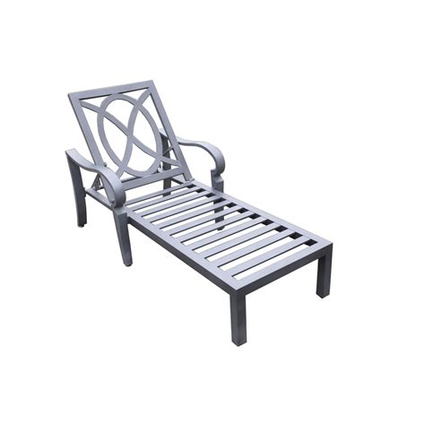shop allen roth newstead slat seat aluminum patio chaise