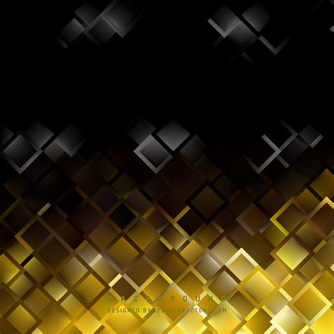 Abstract Black Yellow abstract black yellow square background template