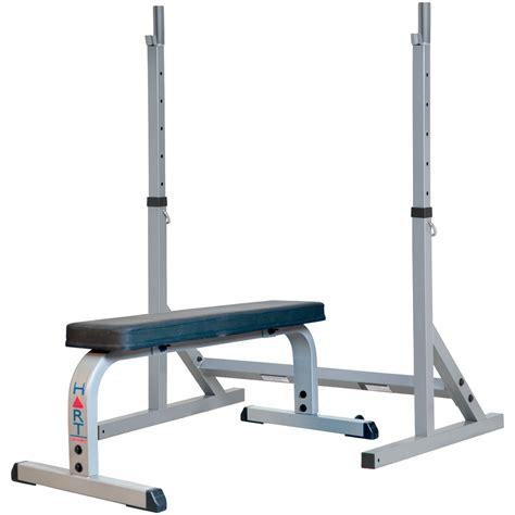 weight bench squat rack combo hart squat stand combo flat bench hart sport