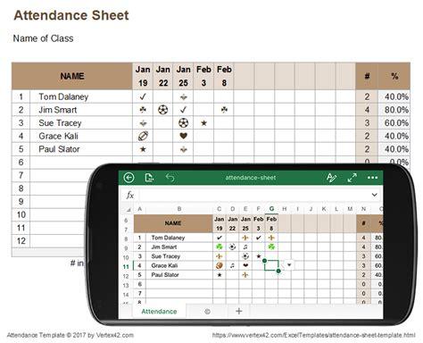 attendance sheet templates small business
