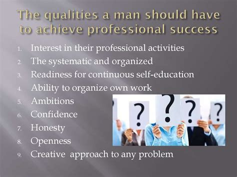 professional  personal qualities   person