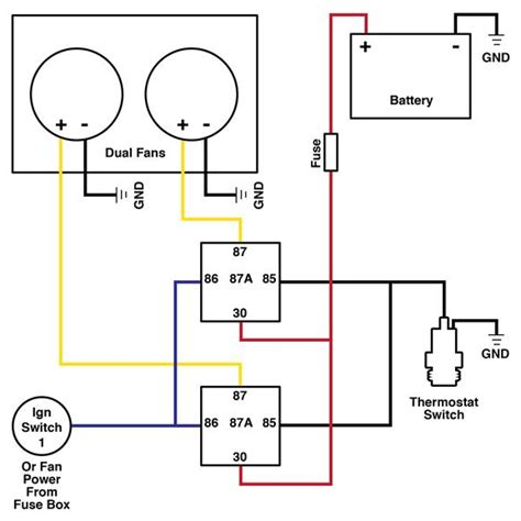 dual cooling fan wiring diagram hot rod how to diy