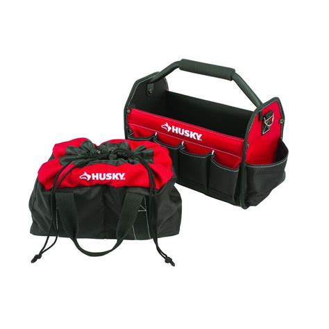 Husky 15 In Tool Tote And Parachute Bag Combo82151n14