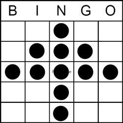 bingo game pattern christmas tree
