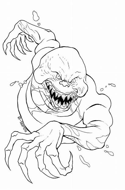 Scary Coloring Pages Ghost Evil