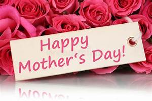 Happy Mother's Day With Roses Flowers Stock Image - Image ...
