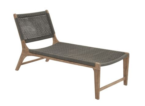 buy durable wood rope outdoor lounge chair at