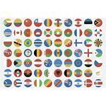 Flag Icons Flags Flat Circular Icon Sets